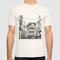 Yokohama - China town Mens Fitted Tee Natural SMALL