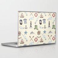 Laptop & iPad Skin featuring Nautical Pattern by Brooke Weeber