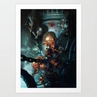robot Art Prints featuring Robot by Nicolas Villeminot