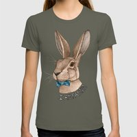 Mr Hare Is Faster Womens Fitted Tee Lieutenant SMALL