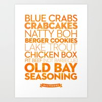 Baltimore — Delicious City Prints Art Print