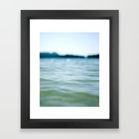 Wave Bokeh The Deep End Framed Art Print