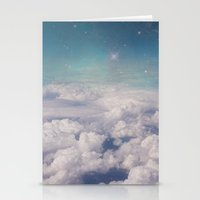 Galaxy Clouds Stationery Cards
