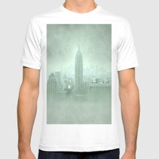 New York Fantasy II Mens Fitted Tee SMALL White