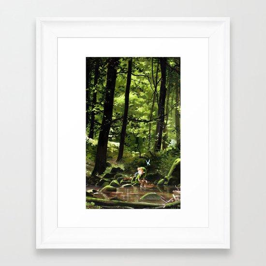 Hey! Framed Art Print