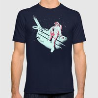 Astroshades Mens Fitted Tee Navy SMALL