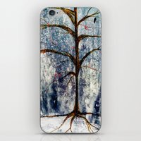 Forest Tree In Winter iPhone & iPod Skin