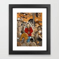 Spot the Tourist Framed Art Print