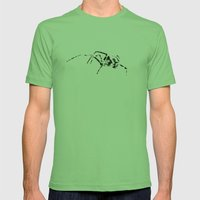 Black Widow Scribble Mens Fitted Tee Grass SMALL