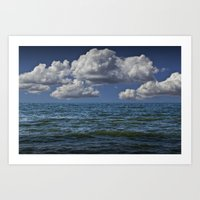 Large Billowing Clouds O… Art Print