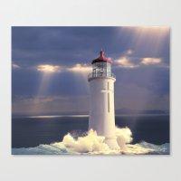 Lighthouse Temple Canvas Print