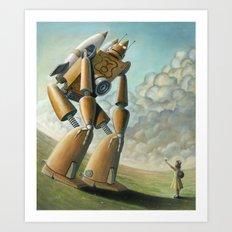 Robot Dilemma Art Print