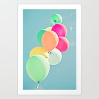 Balloon Mania Art Print
