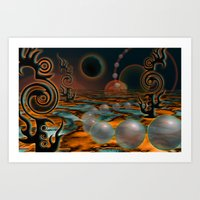 The Black Moon Art Print