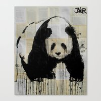 endangered species #1 panda Canvas Print