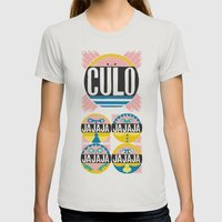 Culo Womens Fitted Tee Silver SMALL