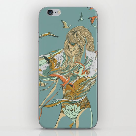 MELT INTO THE OCEAN iPhone & iPod Skin