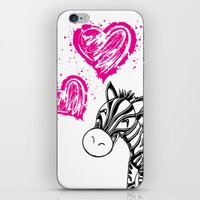 Zebby The Zebra  iPhone & iPod Skin
