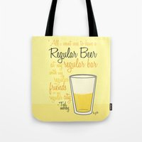 Tv Drink Quotes [how I M… Tote Bag