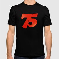 75 Mens Fitted Tee Black SMALL