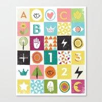 ABC123 Canvas Print