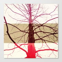 Distorted Tree Canvas Print