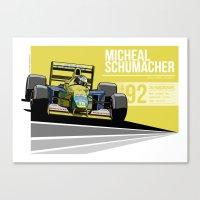 Michael Schumacher - 199… Canvas Print