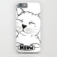 iPhone & iPod Case featuring Meow Cat by Ellie Craze