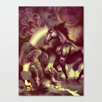 Ultra Unicorn Power Canvas Print