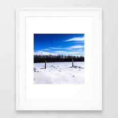 Wintery Day Framed Art Print
