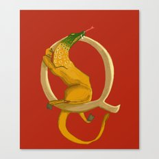 Q is for Quest Beast Animal Alphabets Canvas Print