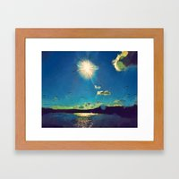 Sunshine At The Black Se… Framed Art Print