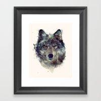 Wolf // Persevere  Framed Art Print