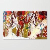 Fall Long Dresses  Canvas Print