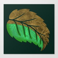 Drying Leaf Canvas Print
