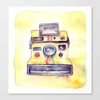 Vintage gadget series: Polaroid OneStep camera Canvas Print