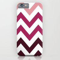 iPhone & iPod Case featuring PINK FADE CHEVRON by natalie sales
