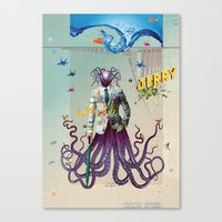 Mr Octapius Canvas Print