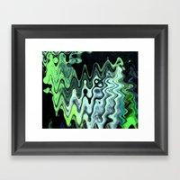 Gray Wave Framed Art Print