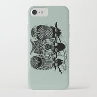 feathers iPhone & iPod Cases featuring Owls of the Nile by Rachel Caldwell