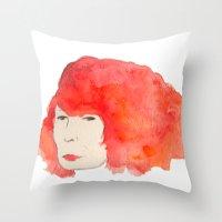 Fire Head Throw Pillow