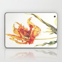 V. Vintage Flowers Botanical Print by Anna Maria Sibylla Merian - Parrot Tulip Laptop & iPad Skin