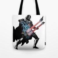 Darth Vader Force Guitar… Tote Bag