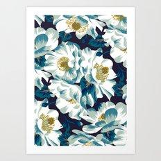 Mount Cook Lily (Night) Art Print