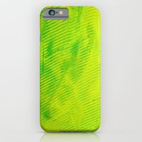 Yellow And Green Stripes iPhone 6 Slim Case