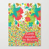 Earth laughs in flowers Canvas Print
