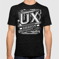 UX - Industrial Design -… Mens Fitted Tee Tri-Black SMALL