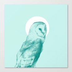 Wise Blue Owl Canvas Print