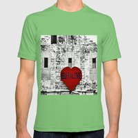 Buffalo Love black white and red Mens Fitted Tee Grass SMALL