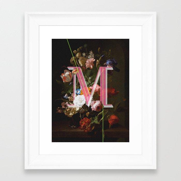 Letter M Framed Art Print By Isabel Arenas